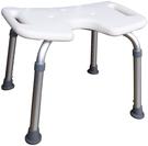 特殊凹槽設計鋁製無背洗澡椅