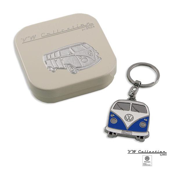 VW Brisa老福斯-T1 Bus 車頭造型鑰匙圈-白/藍