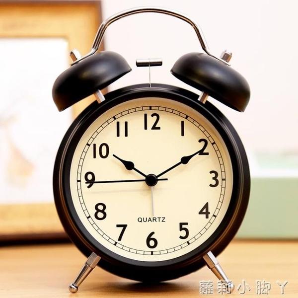 北歐小鬧鐘床頭夜光學生用兒童靜音創意時鐘臥室鐘表鬧鈴超大聲音【蘿莉新品】