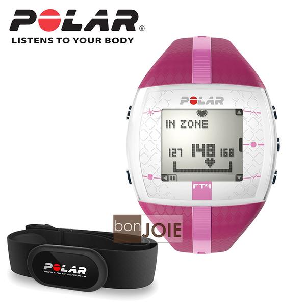 ::bonJOIE:: 美國進口 新款 Polar FT4 女款心跳錶 (粉紅色)(內含 Polar H1 軟式心跳帶) Heart Rate 心率錶