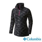 Columbia 女 保暖刷毛立領上衣-黑色 UAL64370BK【GO WILD】