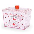 【震撼精品百貨】Hello Kitty_凱蒂貓~Sanrio HELLO KITTY寶石風分格收納盒(草莓)#82760