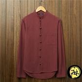 棉麻襯衫 中式男裝長袖中國風棉麻長袖立領亞麻盤扣唐裝