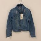 歐美基本款修身時尚牛仔外套(M號/121-6196)