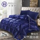 【Hilton希爾頓】拜占庭雙絲光天然蠶絲被2.5kg/ 藍