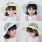 嬰兒帽子夏季薄款寶寶遮陽帽兒童防曬帽