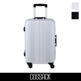 Backbager 背包族【COSSACK】PRACTICAL實質系列 22吋 PC鋁框行李箱(碳灰/碳白)