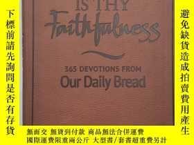 二手書博民逛書店Great罕見Is Thy Faithfulness 365 d