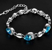 韓版 時尚 新款 手飾 海洋之心 桃心鑲鑽 水晶手鍊 女款 配飾 手環