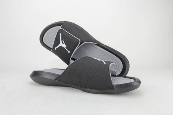 Nike 拖鞋 Jordan Hydro 6 黑 白 魔鬼氈 爆裂紋 喬登 男鞋