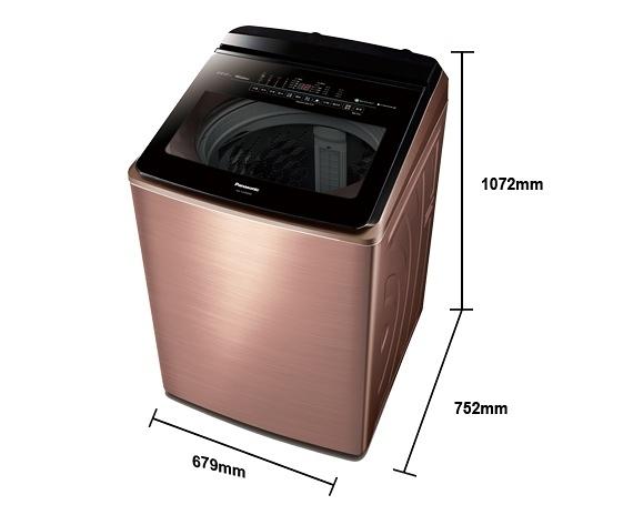 《Panasonic 國際牌》nanoe 22公斤 直立式變頻 溫水 雙效自動槽洗淨洗衣機 NA-V220EBS-B(薔薇金)