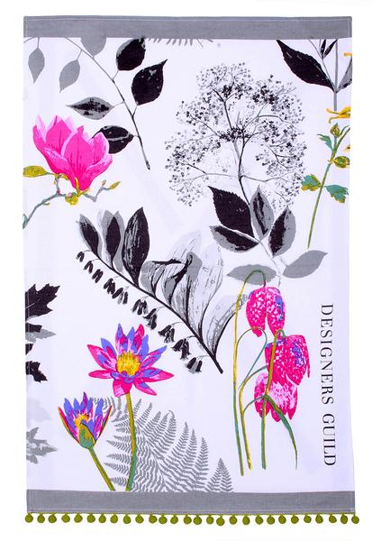 愛爾蘭Ulster Weavers棉質茶巾/擦手巾- 水墨之花(Designers Guild設計款)