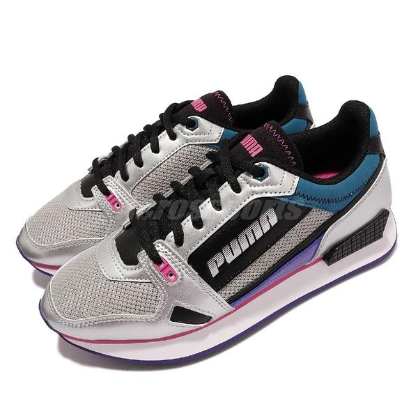 【海外限定】Puma 休閒鞋 Mile Rider Wonder Galaxy 銀 紫 女鞋 復古【ACS】 373944-01