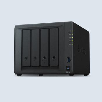 Synology DiskStation DS418 個人及家庭4bays網路儲存NAS【附WD60EFRX硬碟*4】