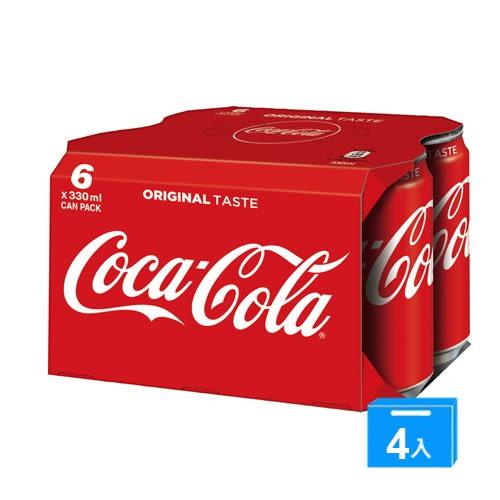 可口可樂易開罐330ml*24入/箱【愛買】