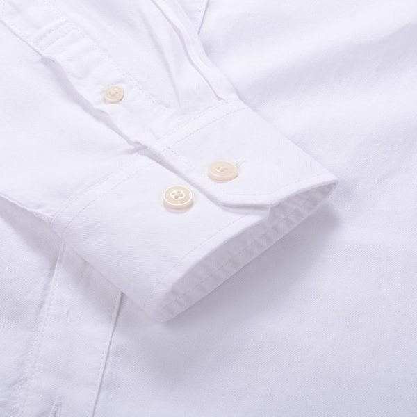 真維斯男裝 春裝 舒適方領時尚徽章長袖襯衫