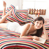 搖粒絨 / 雙人【經典特調】床包兩用毯組  頂級搖粒絨  戀家小舖台灣製AAW215