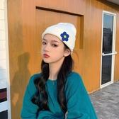 針織帽ins軟妹毛線帽子女秋冬正韓潮針織帽甜美可愛百搭包頭帽冬天冷帽 moon衣櫥