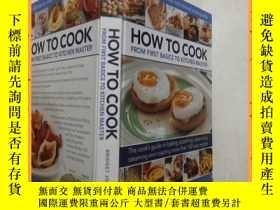 二手書博民逛書店英文書罕見how to cook from first basics to kitchen master 如何從最