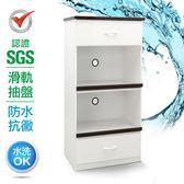 IHouse-SGS 防潮抗蟲蛀塑鋼加高雙拖置物電器櫃