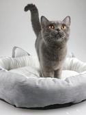 貓窩狗窩寵物用品ins風可愛圓窩狗窩夏季貓頭造型涼席貓窩可拆洗