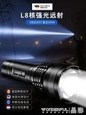 手電筒 德國釣魚熊強光手電筒可充電超亮遠射戶外便攜小防身多功能led燈. 晶彩