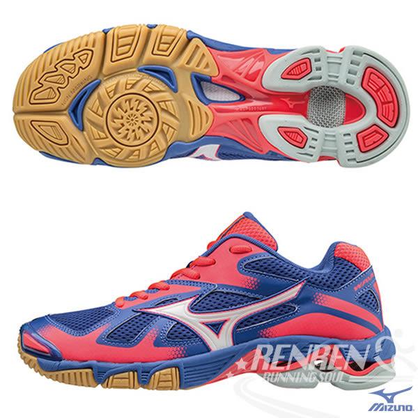 MIZUNO 美津濃 女排球鞋 WAVE BOLT 5 (丈青*銀白*紅) 高避震