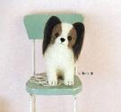 心動小羊^^蝴蝶犬美麗諾羊毛羊毛氈材料包、可製作成手機吊飾、小裝飾(純羊毛製品)