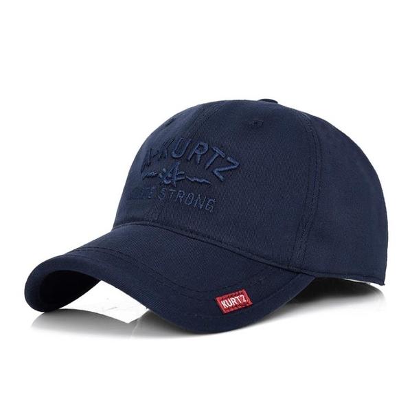 棒球帽 男士帽子冬天鴨舌帽春秋戶外休閒帽子冬季平頂帽正韓潮中年棒球帽