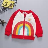 嬰兒棒球夾克外套衣服春秋女寶寶男童兒童3幼兒1歲小童洋氣潮春裝