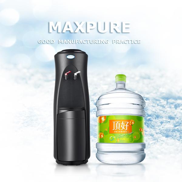 立式溫熱飲水機(黑)+麥飯石涵氧水(A:20公升20桶 / B:12.25公升30桶,A或B擇一)