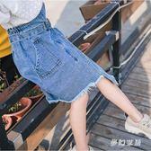 女童半身裙2019新款兒童牛仔洋氣包臀夏季休閒半身裙  QW3859『夢幻家居』