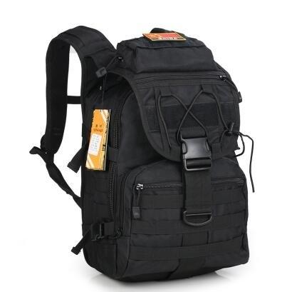 正品3D旅遊野營登山包特種兵作戰包戶外軍迷背包男迷彩戰術雙肩包(黑色)