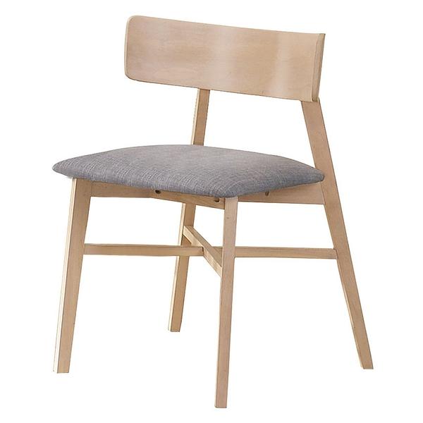 【森可家居】烏托邦實木餐椅(布) 8JX527-7 日式無印北歐風