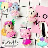 兒童髮飾-韓風最新立體壓克力-貓兔熊壓夾-顏色隨機出(每個)(P11820)★水娃娃時尚童裝★