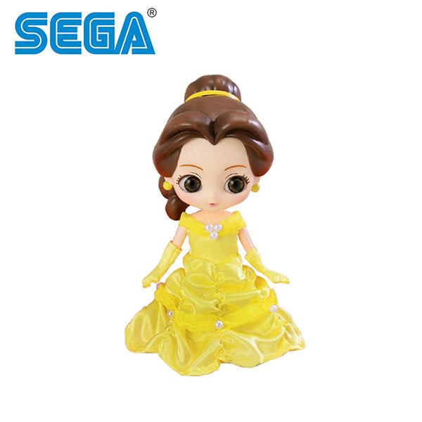 【日本正版】CUICUI DOLL 貝兒公主 公仔 模型 美女與野獸 Belle 迪士尼 SEGA - 717023