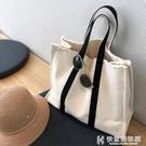 2019新款韓版上課手提包女氣質女神單肩大容量小眾公文帆布旅行包 快意購物網