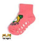 MIT 兩隻老虎止滑寶寶襪 粉紅 小童(S)12-15cm