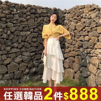 任選2件888半身裙韓版小清新氣質百搭蛋糕層半身裙長裙【08G-I0458】
