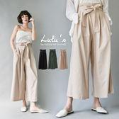 LULUS-C後鬆緊高腰寬褲-附腰帶-3色  現+預【04051328】