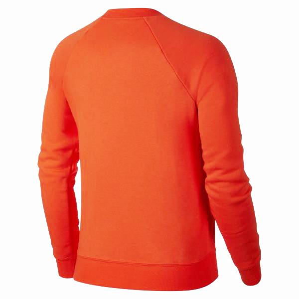 NIKE SPORTSWEAR 女裝 長袖 針織 大學T 棉質 刷毛 橘紅 【運動世界】 BV4113-891