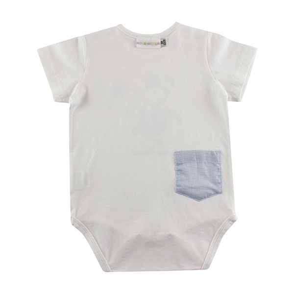 【愛的世界】彈性小兔蜻蜓短袖包屁衣2件組/3個月~1歲-台灣製-  ---幼服推薦