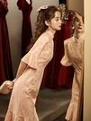 旗袍2021年新款夏季中國風氣質優雅年輕款少女粉色魚尾改良洋裝 好樂匯