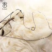 【Front 眼鏡鍊】金屬圈圈造型眼鏡鍊-兩色可選#眼鏡鍊/防滑掛繩