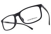 EMPORIO ARMANI 光學眼鏡 EA3135F 5692 (深藍-黑) 沉穩方框款 平光鏡框 #金橘眼鏡