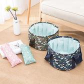 ✭米菈生活館✭【B61】便攜式可折疊水桶包(大號16L) 印花 旅行洗衣服 泡腳袋 洗衣盆 旅遊 收納包
