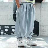 男童牛仔褲 褲子夏季薄款兒童防蚊褲中大童夏裝哈倫牛仔褲2021新款燈籠褲【快速出貨】