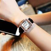 手錶 方形時尚潮流石英手錶皮錶帶冷淡風新款防水森女系手錶631-1276 巴黎春天