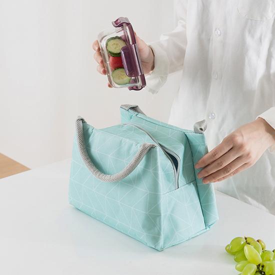 保溫手提印花便當袋 飯盒袋 便當包 加厚 帶飯包 便攜 收納 整理 分類【N390】米菈生活館