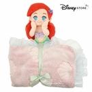 日本限定 迪士尼商店 Disney Store 迪士尼公主系列 小美人魚 愛莉兒 玩偶折疊收納式 毛毯 / 蓋毯
